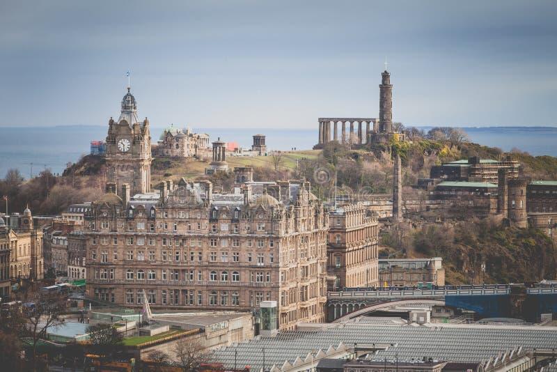 Ansicht von Edinburgh-Schloss, Schottland lizenzfreies stockfoto