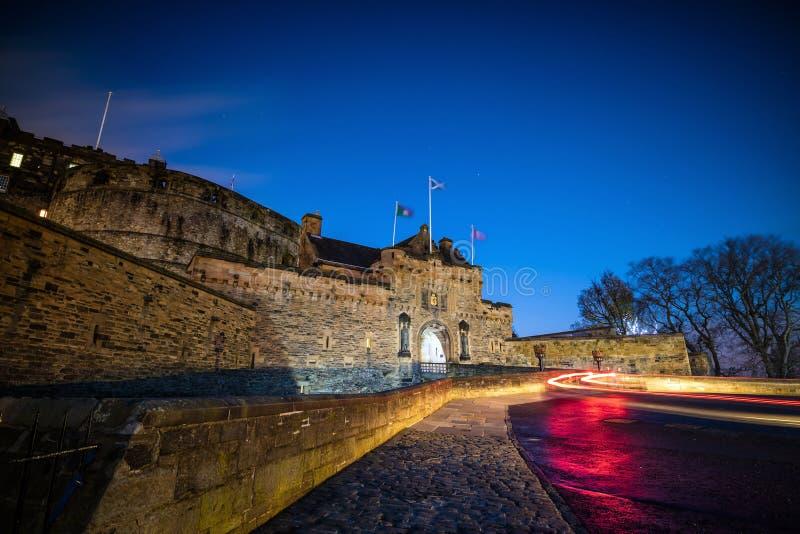 Ansicht von Edinburgh-Schloss in Schottland stockfoto