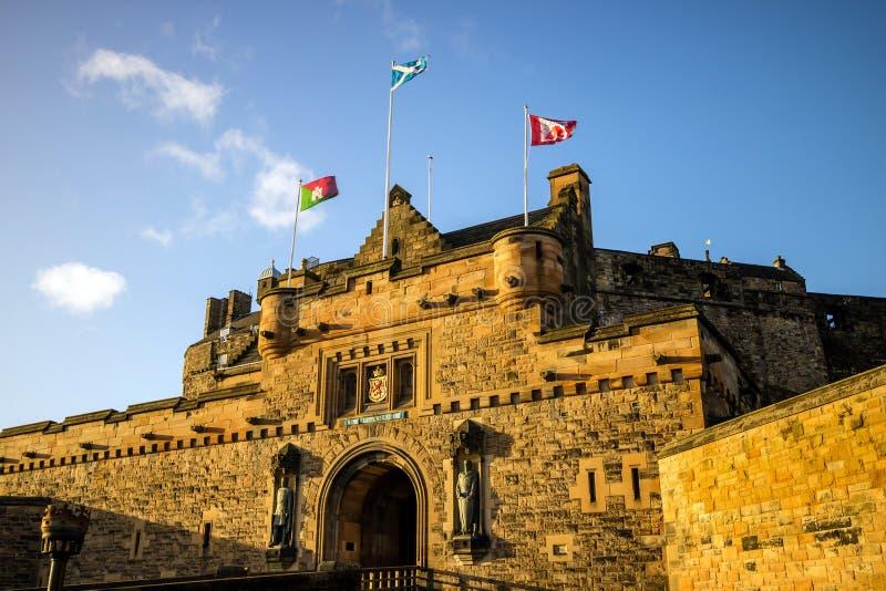 Ansicht von Edinburgh-Schloss in Schottland stockbilder