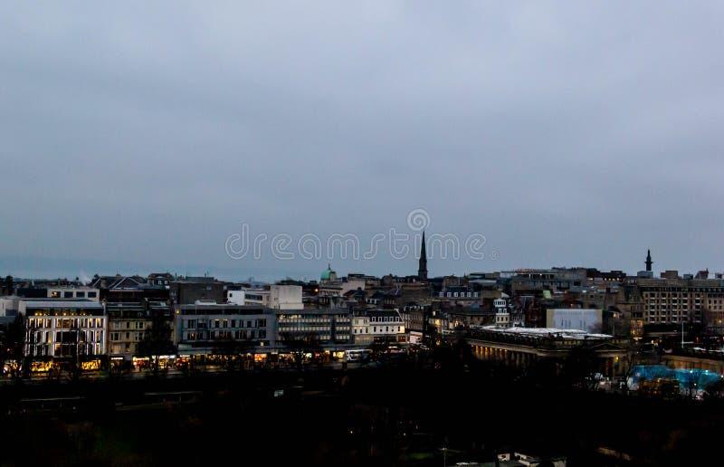Ansicht von Edinburgh-Stadtbild stockfoto