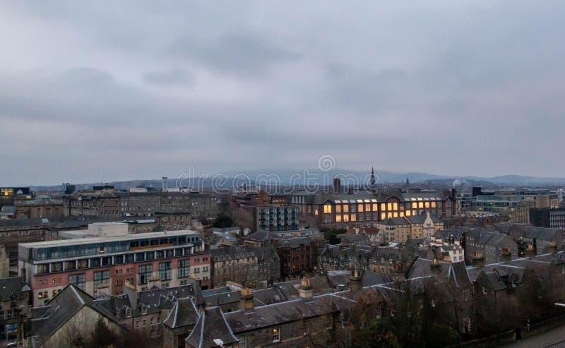 Ansicht von Edinburgh-Stadtbild lizenzfreies stockfoto