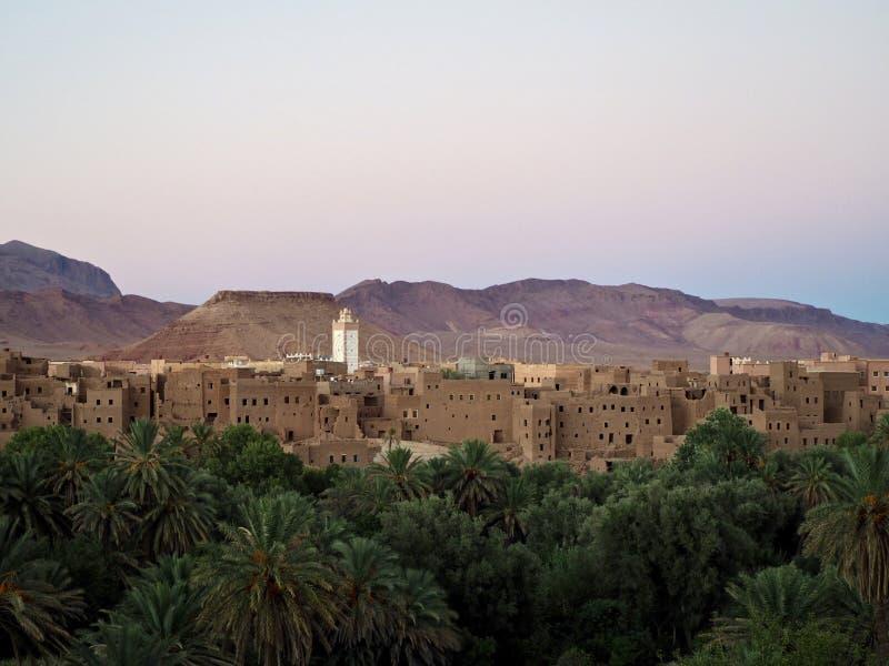 Ansicht von einem Kasbah in Marokko lizenzfreie stockfotografie