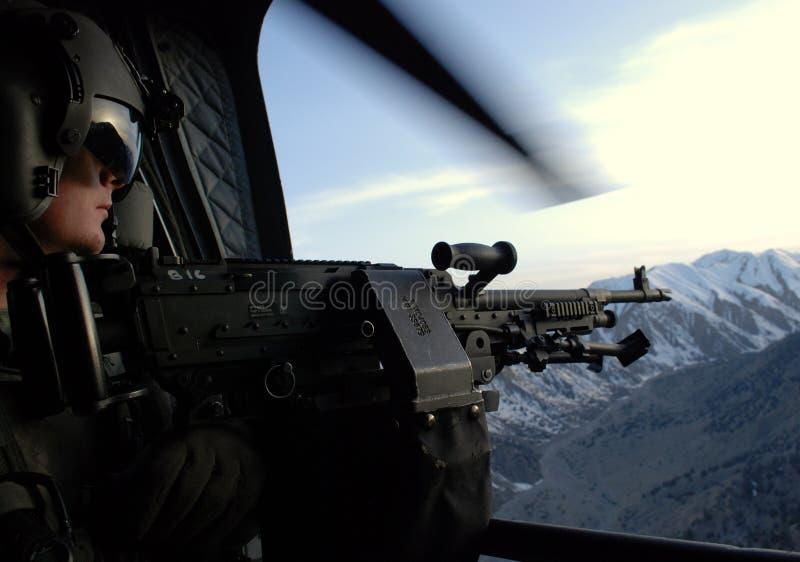 Ansicht von einem Zerhacker in Afghanistan lizenzfreies stockfoto
