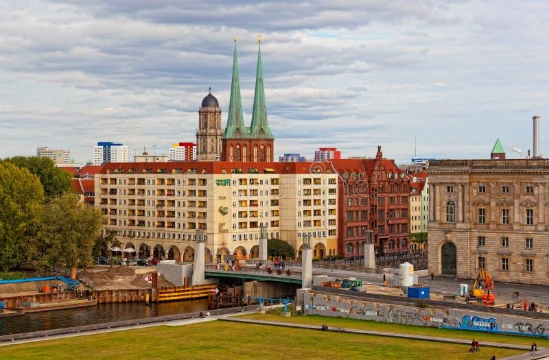 Ansicht von einer Aussichtsplattform, Berlin lizenzfreies stockbild