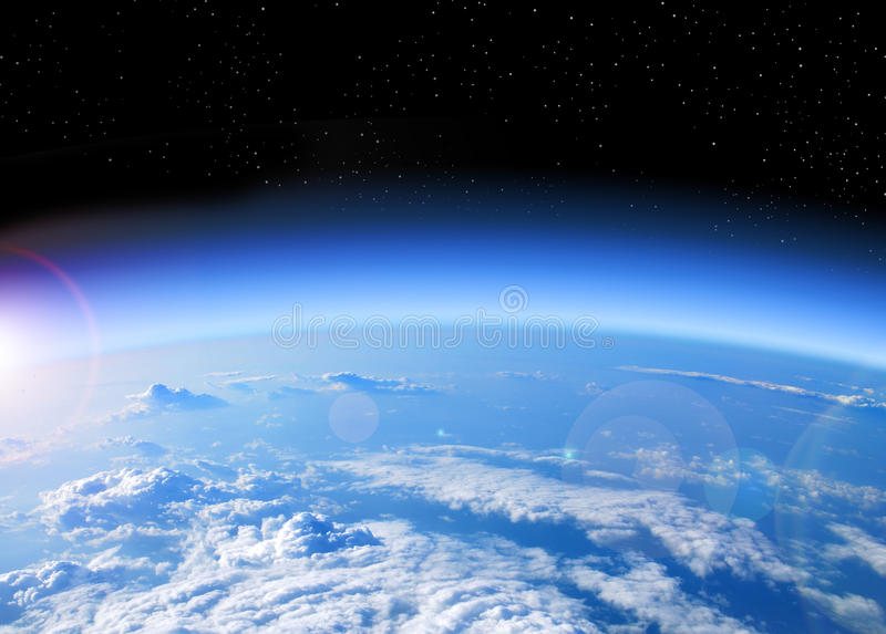 Ansicht von Erde vom Platz stockfoto