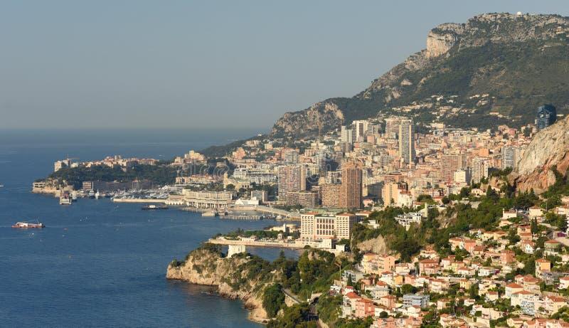 Ansicht von Fürstentum Monaco lizenzfreie stockfotos