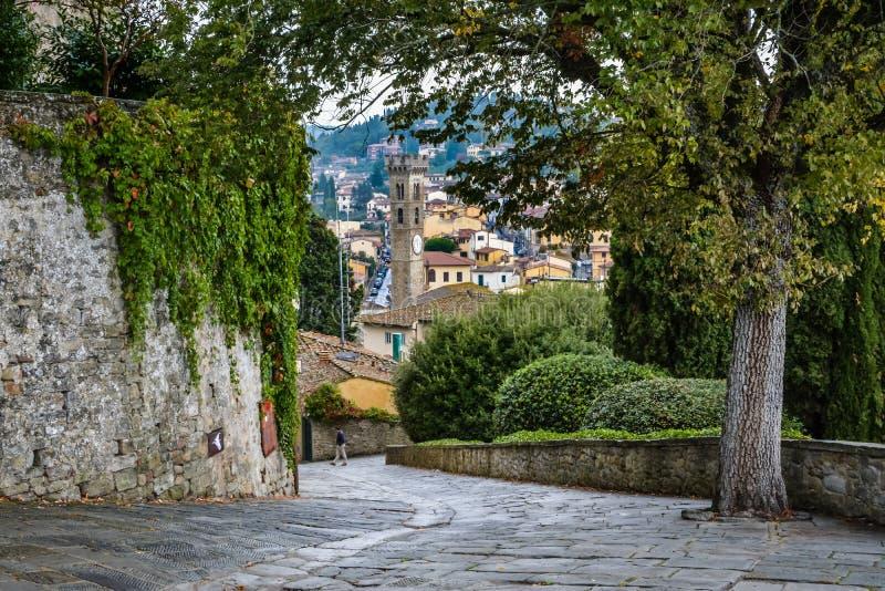 Ansicht von Fiesole, Toskana, Italien lizenzfreie stockfotografie