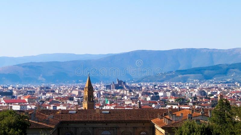 Ansicht von Florenz von den Boboli-Gärten lizenzfreie stockfotos