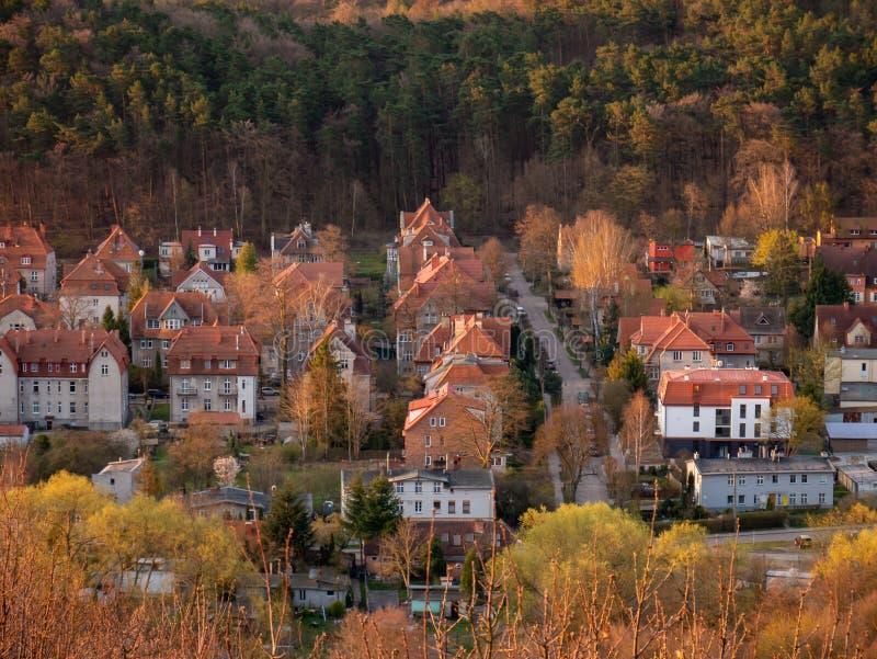 Ansicht von Gdansk, Oliwa-Bezirk, Polen Alte H?user stockbilder