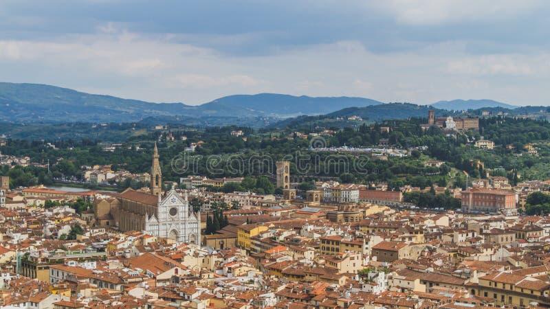 Ansicht von Gebäuden und von Stadt von Florenz, Italien stockfoto