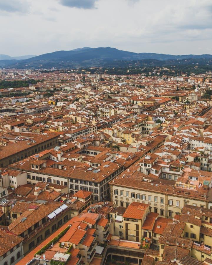 Ansicht von Gebäuden und von Stadt von Florenz, Italien lizenzfreies stockfoto