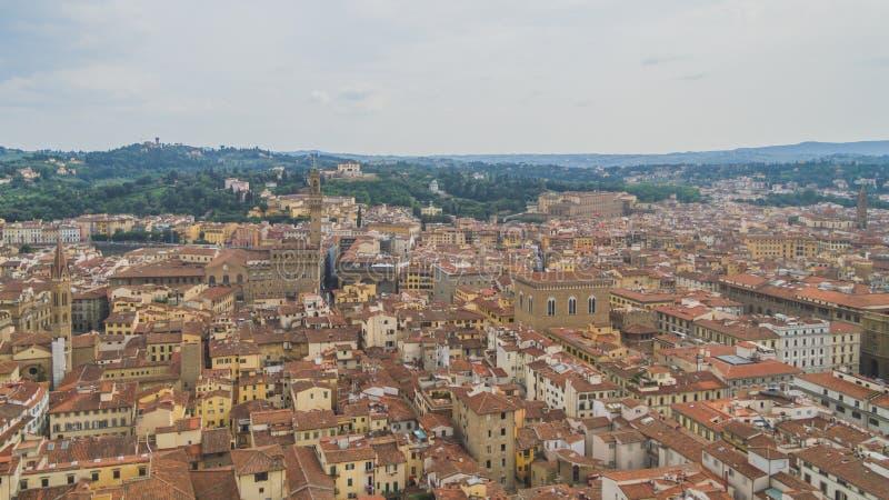 Ansicht von Gebäuden und von Stadt von Florenz, Italien stockfotografie