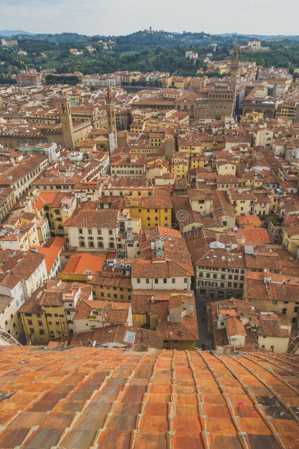 Ansicht von Gebäuden und von Stadt von Florenz, Italien stockfotos