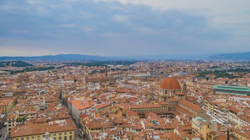 Ansicht von Gebäuden und von Stadt von Florenz, Italien stockbilder