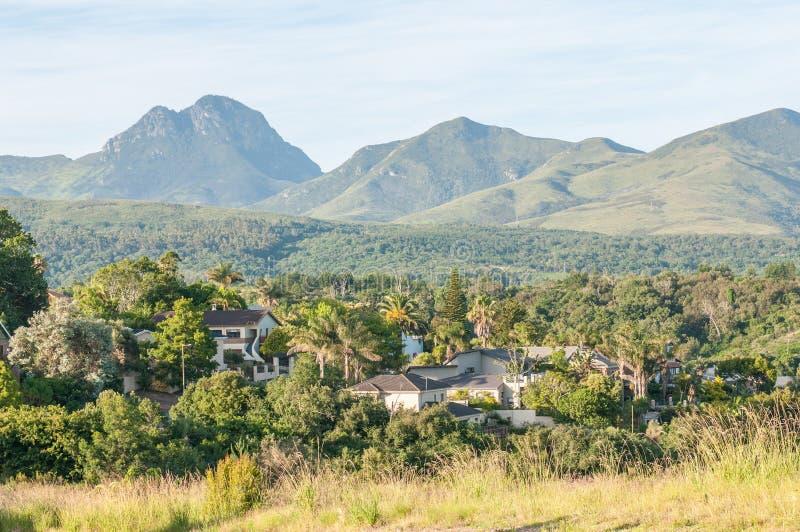 Ansicht von George in Südafrika stockbilder