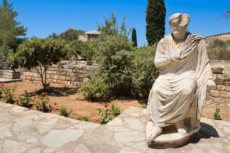 Ansicht von Gortyn. Kreta, Griechenland lizenzfreie stockfotos