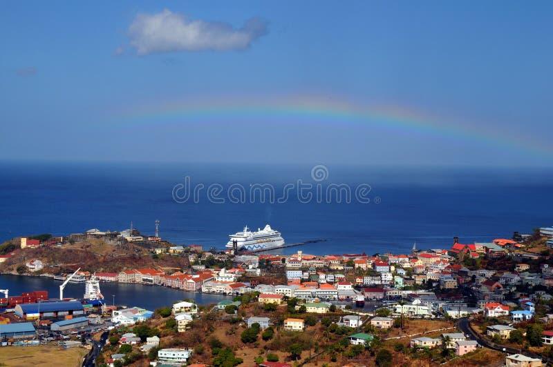 Ansicht von Grenada stockbild