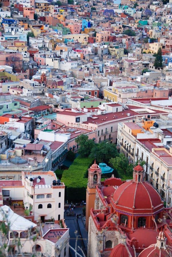 Ansicht von Guanajuato, Mexiko lizenzfreie stockfotos