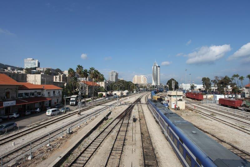 Ansicht von Haifas Stadtzentrum lizenzfreie stockbilder