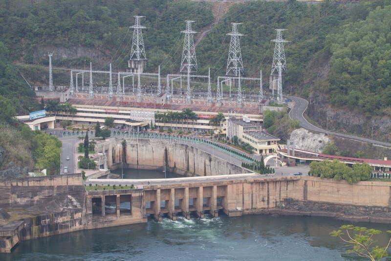 Ansicht von Hoa Binh Hydroelectricity Plant stockfotos