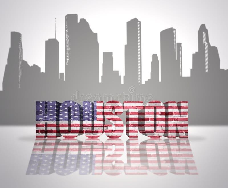 Ansicht von Houston City vektor abbildung