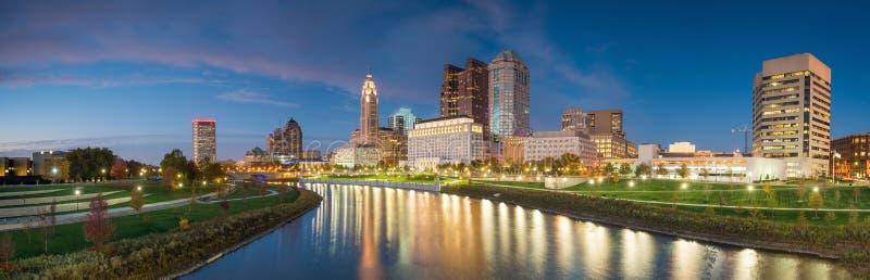 Ansicht von im Stadtzentrum gelegenem Columbus Ohio Skyline lizenzfreie stockfotografie