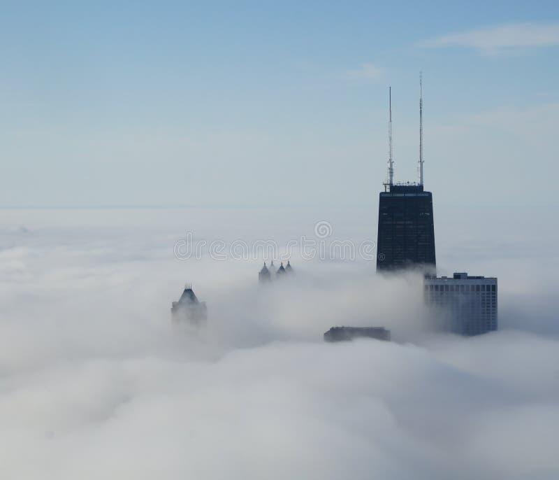 Ansicht von John Hancock Center stockbild