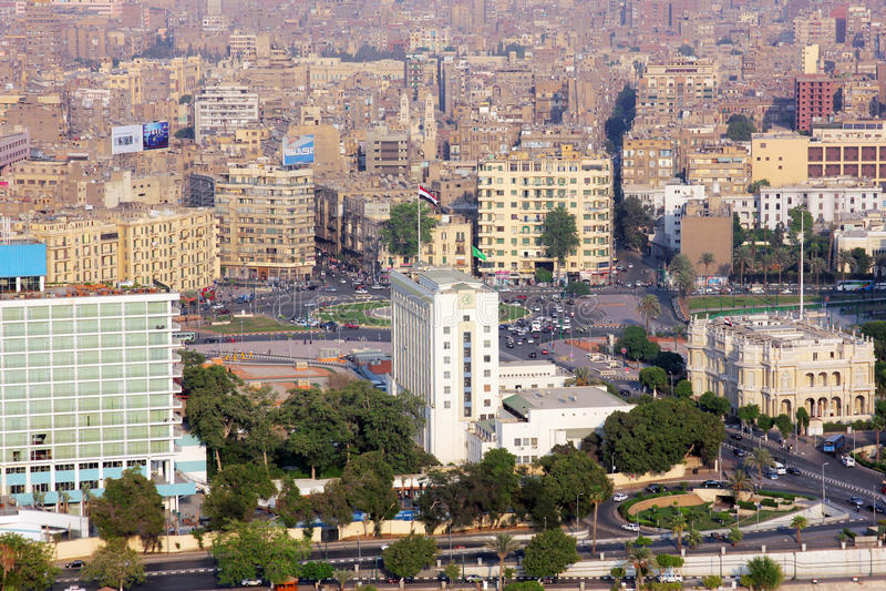 Ansicht von Kairo stockbild