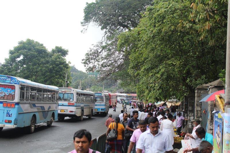 Ansicht von Kandy-Stadt in Sri Lanka stockbild