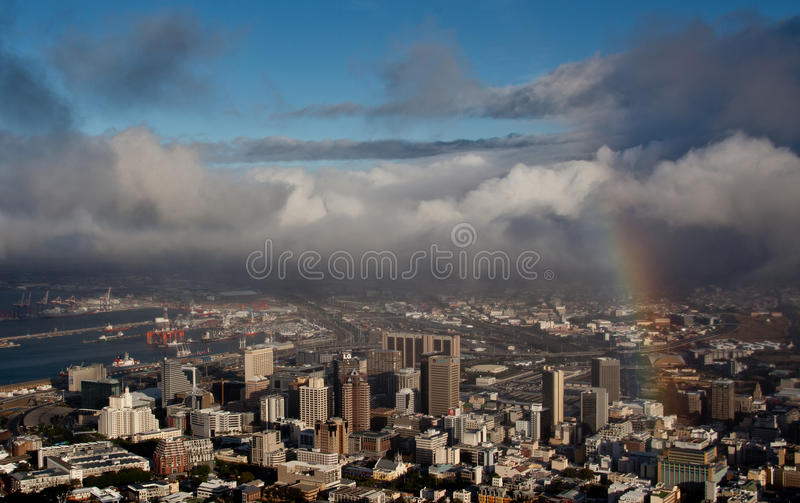 Ansicht von Kapstadt lizenzfreies stockfoto