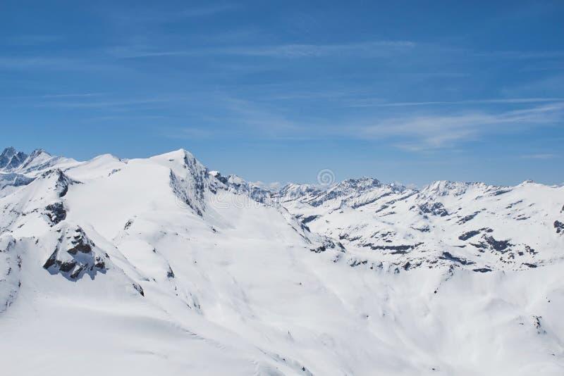 Ansicht von Kitzsteinhorn die Spitzen des Nationalparks Hohe Tauern in Österreich stockbilder