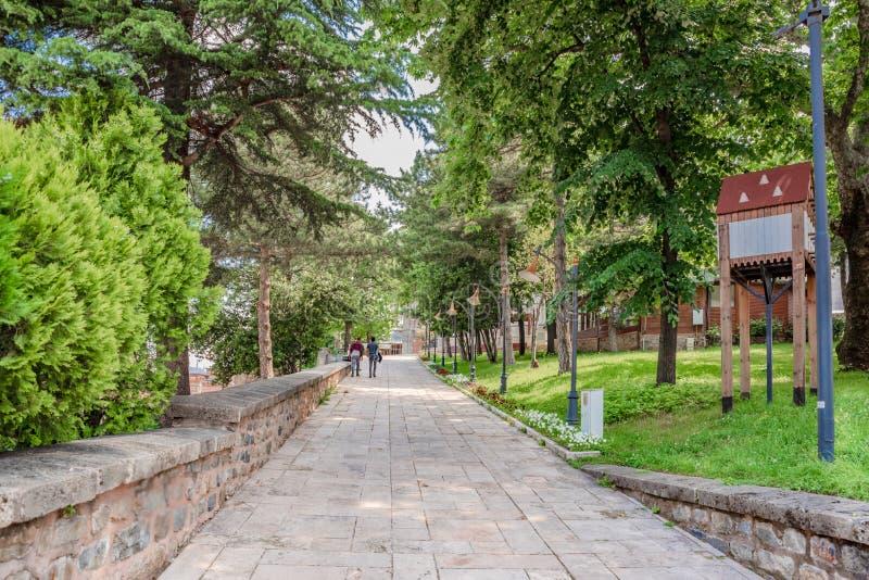 Ansicht von Komplex Yildirim Bayezid in Bursa, die Türkei lizenzfreies stockbild