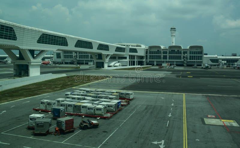 Ansicht von Kuala Lumpur Airport KLIA stockfotografie