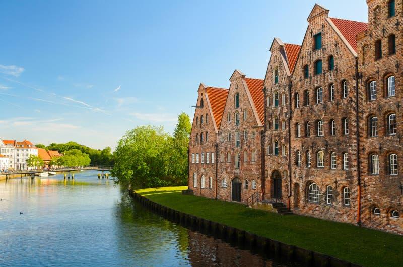 Ansicht von Lübeck, Deutschland stockbild