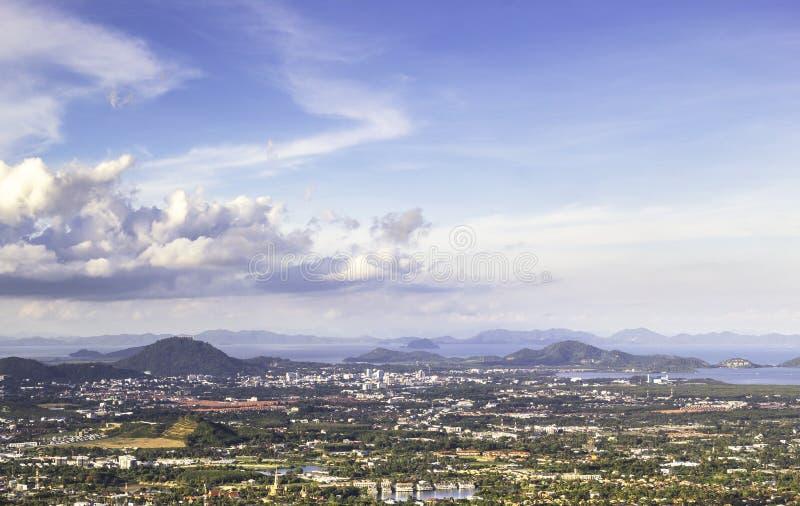 Ansicht von Landschaft-Phuket-Insel stockfotografie