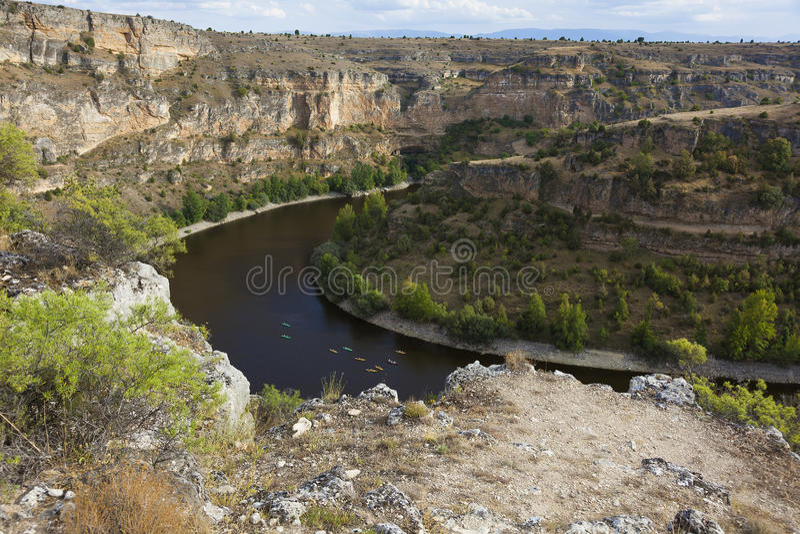 Ansicht von Las Hoces Del Duraton, Segovia stockfotografie