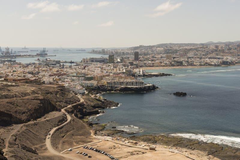 Ansicht von Las Palmas de Gran Canaria lizenzfreie stockfotos
