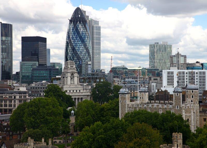 Ansicht von London lizenzfreies stockfoto