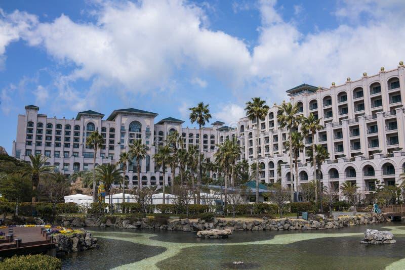 Ansicht von Lotte Hotel Jeju lizenzfreie stockfotos