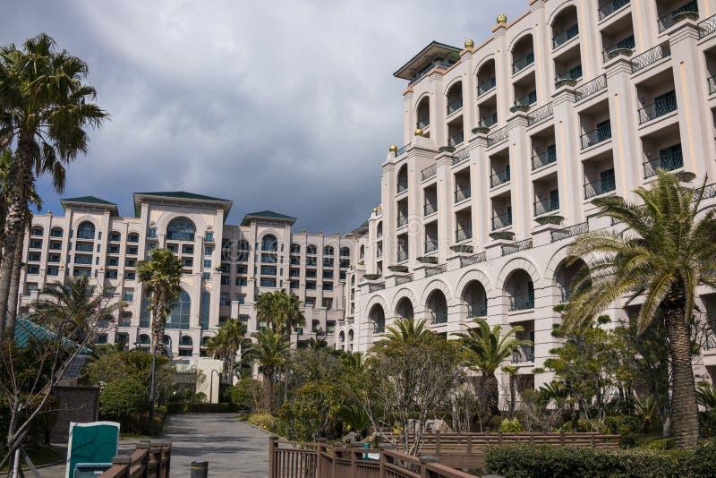 Ansicht von Lotte Hotel Jeju lizenzfreies stockfoto