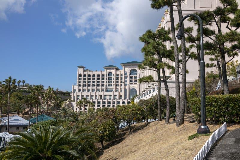 Ansicht von Lotte Hotel Jeju stockfotografie