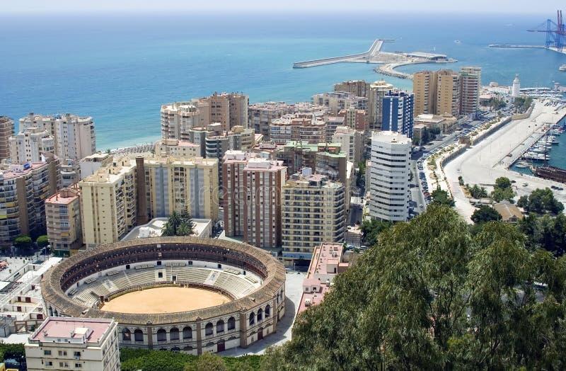 Ansicht von Màlaga lizenzfreie stockfotografie