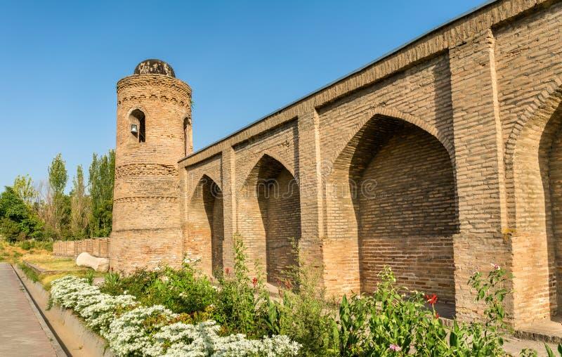 Ansicht von Madrasa Kuhna nahe Hisor-Festung, Tadschikistan stockfotos