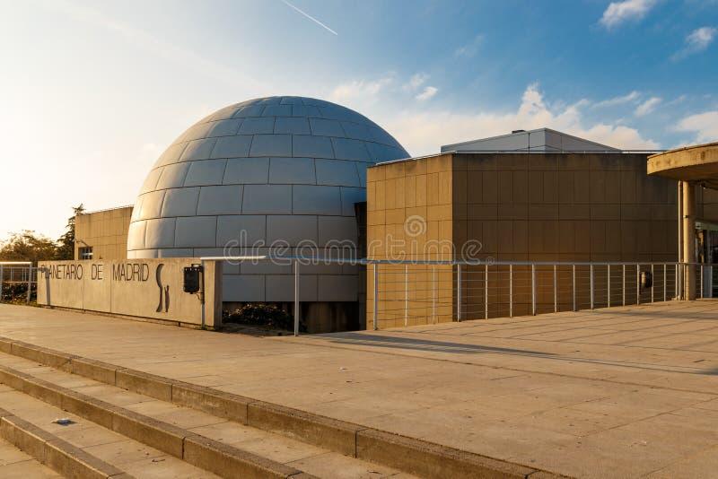 Ansicht von Madrid-Planetarium stockbild