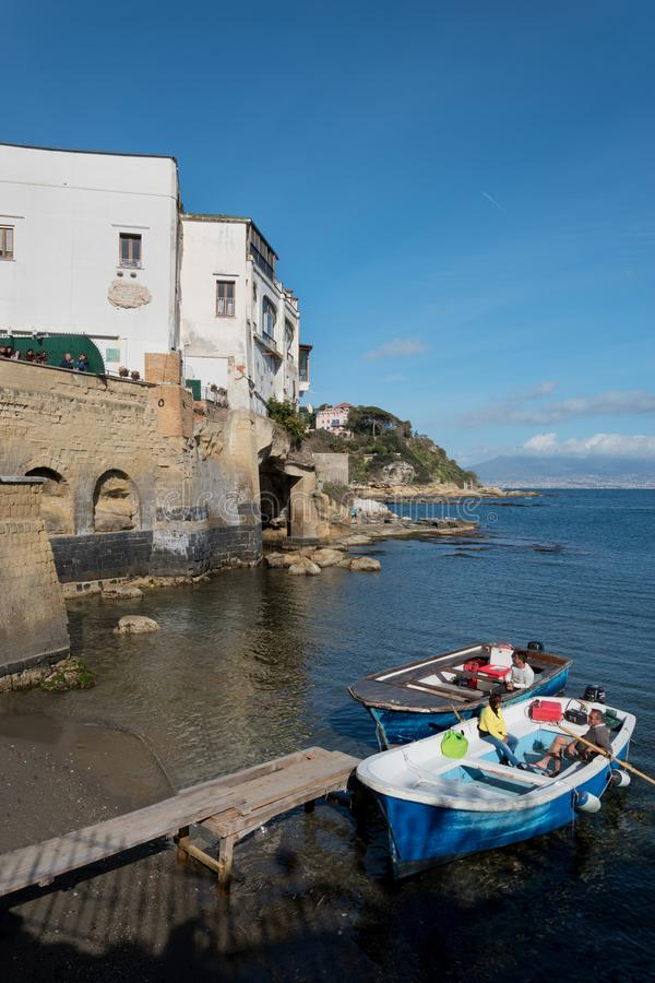 Ansicht von Marechiaro in Posillipo, Neapel stockfoto