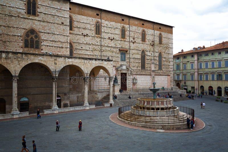 Ansicht von Marktplatz IV Novembre, Perugia stockfoto