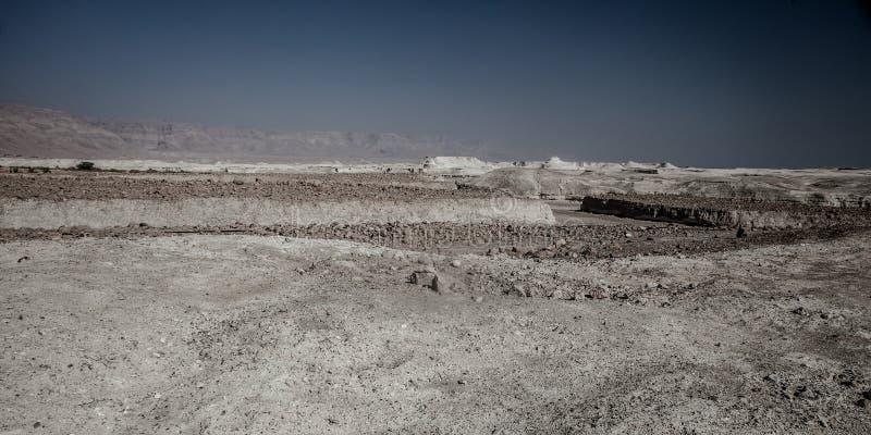 Ansicht von Masada-Festung stockbild
