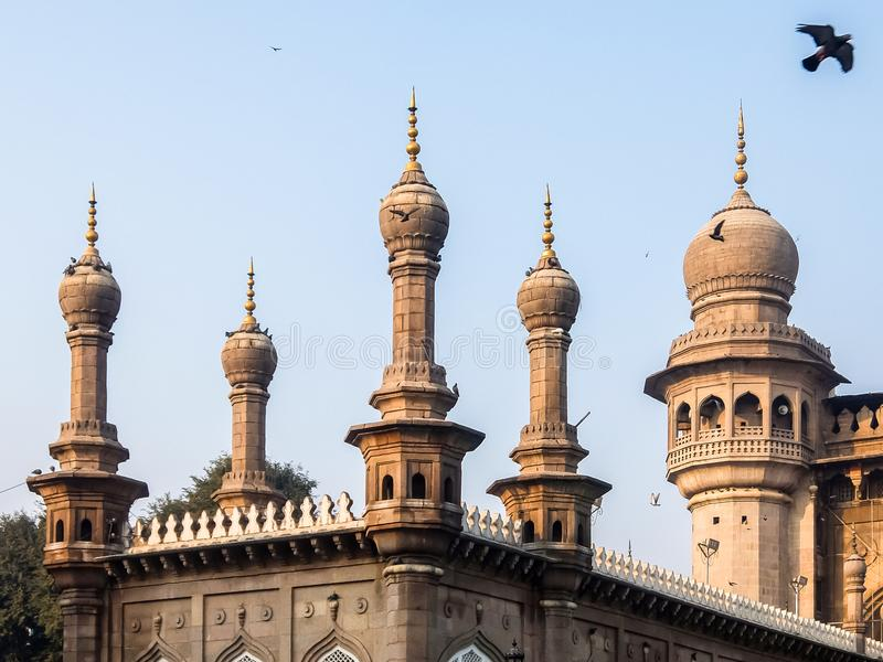 Ansicht von Mecca Masjid fand in Hyderabad, Telangana, Indien stockfoto