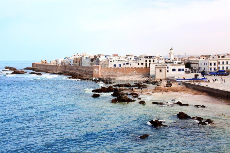 Ansicht von Medina Essaouira und von Atlantik, Marokko lizenzfreies stockfoto