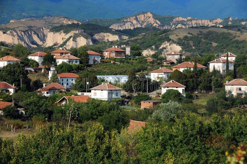 Ansicht von Melnik-Stadt lizenzfreies stockbild